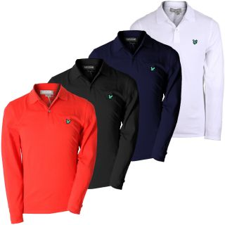 Lyle Scott Green Eagle 2013 Mens Long Sleeve Pique Golf Polo Shirt