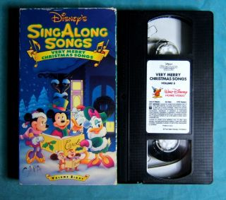 Disney Sing Along Very Merry Christmas Songs VHS Volume 8 Mickey Mouse