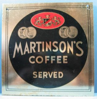 Old Authentic Martinsons Coffee Served Old Tin Sign AD697