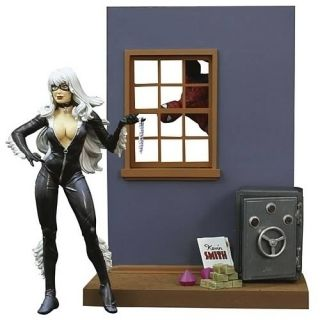 Marvel Select Black Cat Spider Man Action Figure Loose