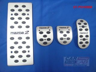 Mazda 2 MAZDA2 Manual Transmission Aluminum Sport Pedals Pad Covers