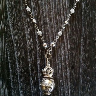 Devon Page McCleary White Gold And Diamond Orb On Partial Diamond