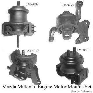 Mazda Millenia 1995 2002 Engine Motor Mount Set