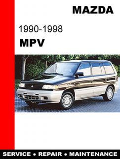 Mazda MPV 1990 1998 Factory Service Repair Workshop Shop FSM Manual CD