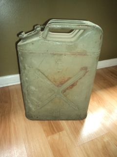 WWII Era U s Five 5 Gallon Jerry Can Dated 1945