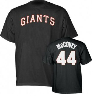 San Fran Giants Willie McCovey Jersey T Shirt Sz Large