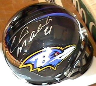 Chris McAlister Signed Autographed Baltimore Ravens Mini Helmet