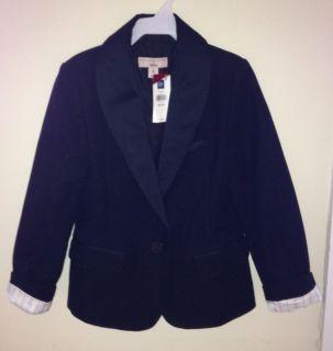 Stella McCartney Gap Black Velvet Tuxedo Jacket M 8