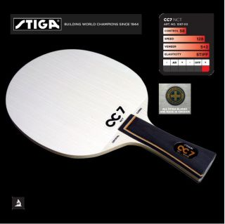 Stiga CC7 NCT Crystal Carbo Table Tennis Ping Pong Racket