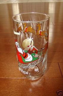 McCrory Santa Claus Coca Cola Coke Christmas Eve Glass