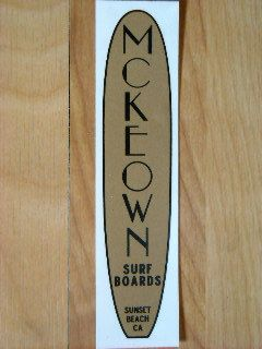 Vintage McKeown Surfboards Surfing Surf Sticker