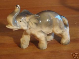 Pair Vintage Japan Porcelain Elephant Figurines