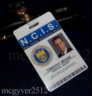NCIS Special Agent Timothy McGee PVC ID Card Badge New
