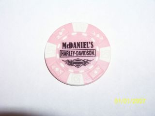 New Harley Davidson McDaniels Souh Bend in Indiana Poker Chip Pink