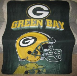 Packers Fleece Throw Blanket Team Gift NFL Football Team Rogers