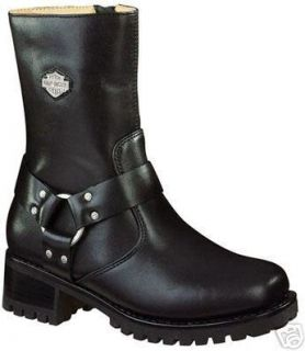 Womens Harley Davidson Ashby Harness Boots Black