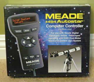Meade 494 Autostar Computer Controller