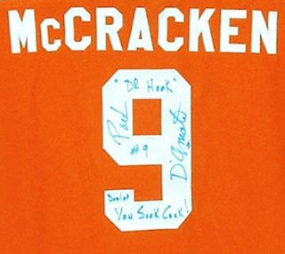 Signed Jersey Slap Shot Syracuse Bulldogs 9 McCracken