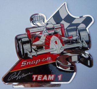 SNAP ON Tools Rick Mears TEAM 1 Original Vintage Racing Decal Sticker