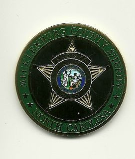 NORTH CAROLINA NC MECKLENBURG COUNTY SHERIFFS OFFICE CHALLENGE COIN