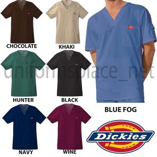 Dickies Medical Scrub Youtility Mens Top V Neck Shirt 81722