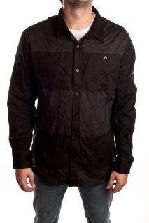 DC Mens Mayhew Button Up L s Shirt Size L Black