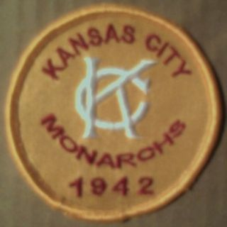 Kansas City Monarchs, Negro League Logo Patch. gold. PLUS OTHER TEAMS