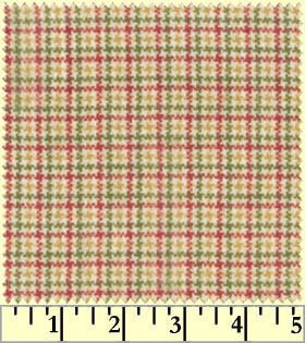 Maywood Studios Woolies Flannel Fabric Orange Green Red Cream Plaid 4