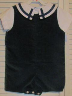18M Green Velvet Jonjon s s White Shirt w Trim Shortall Dressy