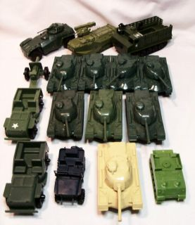 Vintage Processed Plastic Tim Mee GI Joe Army Jeeps Tanks Aircraft Men