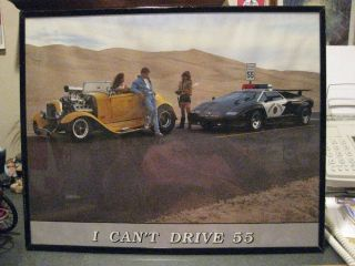 FABULOUS PICTURE POSTER of CAR AUTOMOBILIA AUTO HOT ROD HOT COP GARAGE