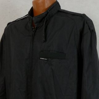 Members Only Black Cafe Racer Style Lightweight Jacket Mens XLT Tall