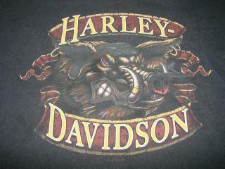 Harley Davidson Mechanicsburg Pennsylvania Mens Black T Shirt Size L