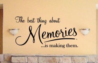 Vinyl Lettering Making Memories Sticky Wall Decal Words