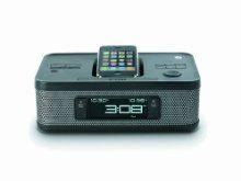 New Memorex MI4703P Dual Alarm Clock Radio for iPod and iPhone Black