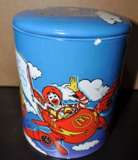 2002 Ronald McDonald Friends Blue Cookie Jar Very Collectable