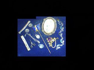 Vintage Antique 50s Rhinestone Estate Findings JUNK Drawer Pcs Parts