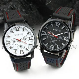 Mens Military Pilot Aviator Army Silicone Outdoor Sport Wrist Watch