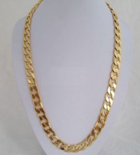 Hot Sell Heavy Mens 18K Gold Plated Necklace Chain
