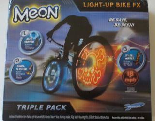 Meon Light Up Bike FX Bicycle 3 Pack Wheel Writer Gyro Flasher Light