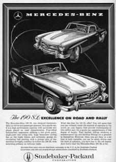 1958 Mercedes Benz 190 SL Roadster Coupe Original Ad