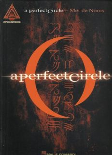 Perfect Circle Mer de Noms Guitar Tab Sheet Music 12 Rock Songs Book