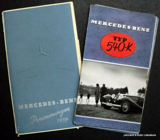 Mercedes Benz 1937 170 H V 230 260 D 290 320 500 540K Portfolio German