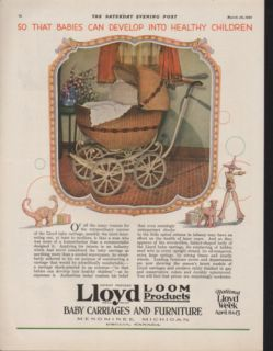 1929 Lloyd Loom Baby Carriage Furniture Menominee Child