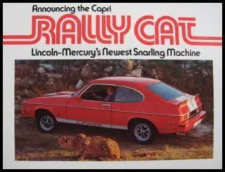 1976 Lincoln Mercury Capri Rally Cat Sales Brochure