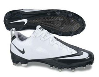 New Mens Nike Zoom Vapor Carbon Fly TD Football Cleats 10 White Black