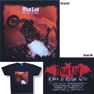 Meat Loaf Bat Out of Hell 2008 Tour Black T Shirt Large New