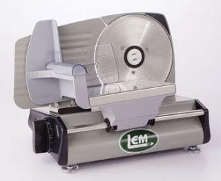 NEW LEM PRODUCTS MEAT SLICER W 7 1 2 130W BLADE WITH ONE YEAR WARRANTY