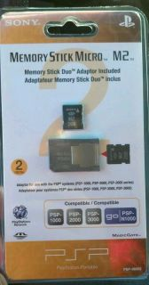 OFFICIAL Sony PSP Memory Stick Micro M2 2GB NEW PSPGo 2 GB PlayStation