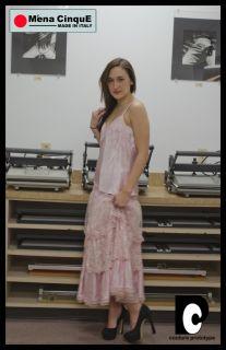 Mena Cinque Vtg Pink Runway Outfit Skirt Blouse Sz 8